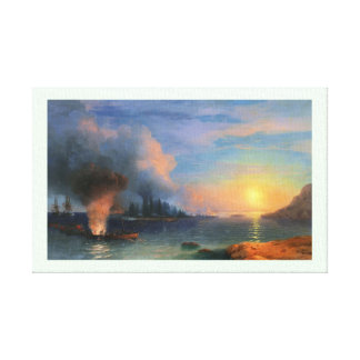 The Battle of Bomarsund Ivan Aivazovsky seascape Canvas Print