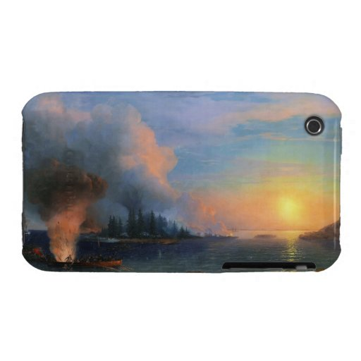 The Battle of Bomarsund Ivan Aivazovsky seascape iPhone 3 Case