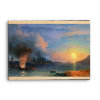 The Battle of Bomarsund Ivan Aivazovsky seascape Envelope