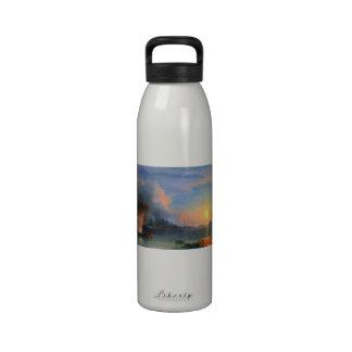 The Battle of Bomarsund Ivan Aivazovsky seascape Water Bottle