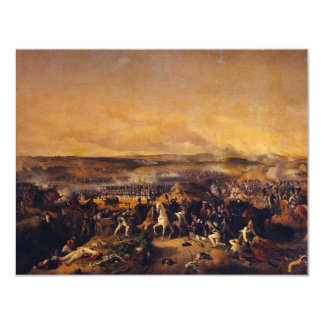 The Battle Of Borodino By Hess Peter Von 4.25x5.5 Paper Invitation Card