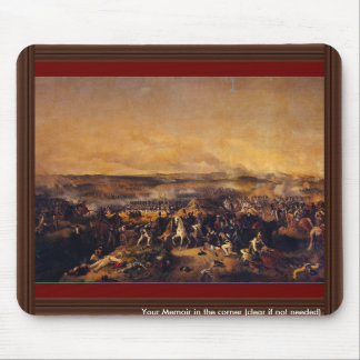 The Battle Of Borodino By Hess Peter Von Mouse Pad