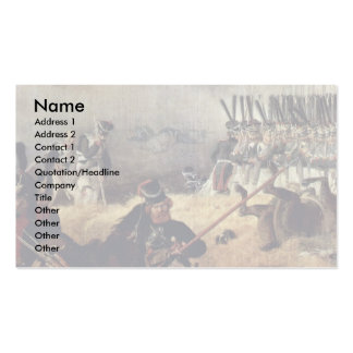 The Battle Of Borodino Detail By Hess Peter Von Double-Sided Standard Business Cards (Pack Of 100)