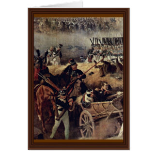 The Battle Of Borodino Detail By Hess Peter Von Greeting Card
