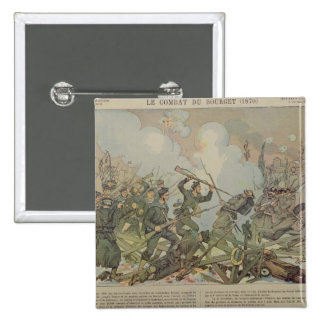 The Battle of Bourget , 1887 2 Inch Square Button