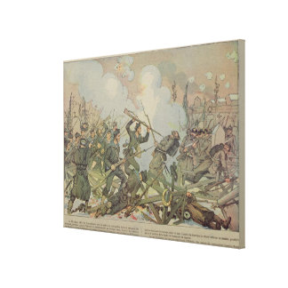 The Battle of Bourget , 1887 Canvas Print