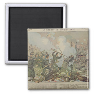 The Battle of Bourget , 1887 Magnet