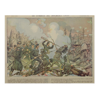 The Battle of Bourget , 1887 Postcard