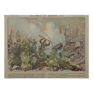 The Battle of Bourget , 1887 Poster