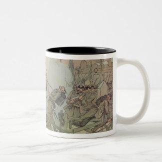 The Battle of Bourget , 1887 Two-Tone Coffee Mug