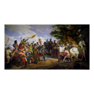 The Battle of Bouvines, 27th July 1214, 1827 Poster