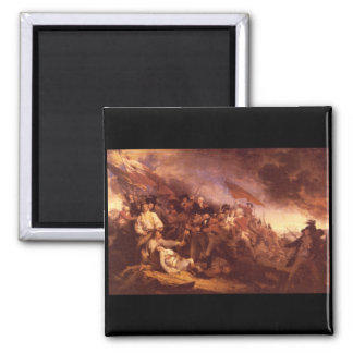 The Battle of Bunker Hill_Art of America 2 Inch Square Magnet