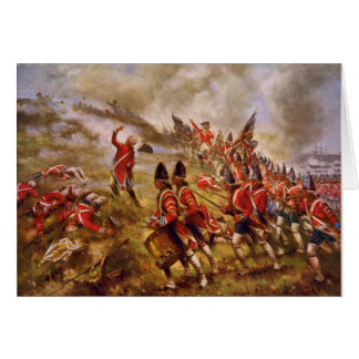 The Battle of Bunker Hill by E. Percy Moran Card