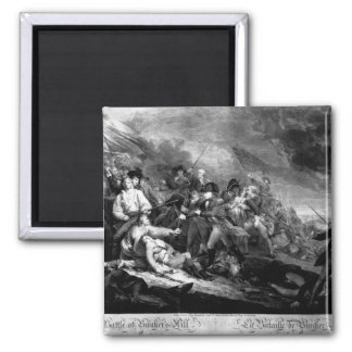 The Battle of Bunker's Hill, near Boston_War Image 2 Inch Square Magnet
