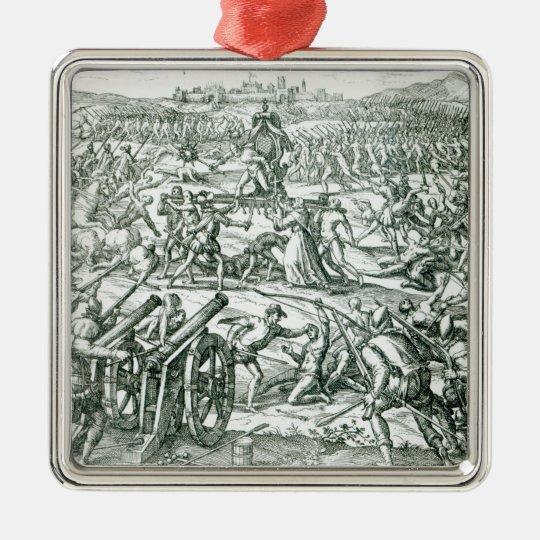 The Battle of Cajamarca, 1532 Metal Ornament