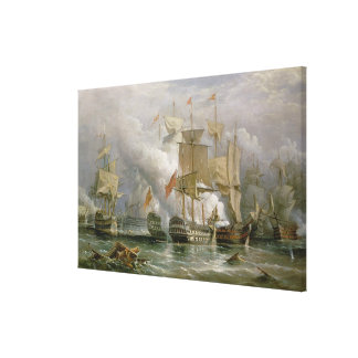 The Battle of Cape St. Vincent, 14th February 1797 Canvas Print