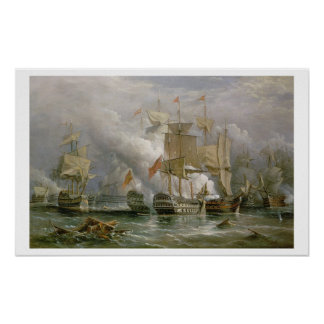 The Battle of Cape St. Vincent, 14th February 1797 Poster