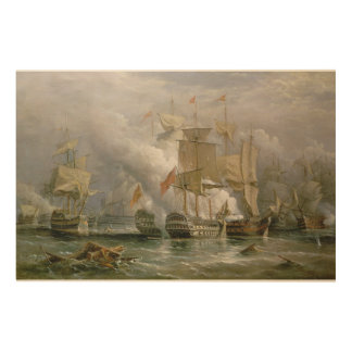 The Battle of Cape St. Vincent, 14th February 1797 Wood Wall Art