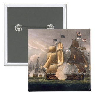 The Battle of Cape St. Vincent, February 14th 1797 2 Inch Square Button