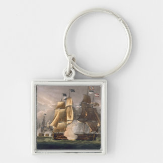 The Battle of Cape St. Vincent, February 14th 1797 Silver-Colored Square Keychain