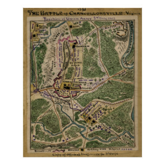 The Battle of Chancellorsville Poster