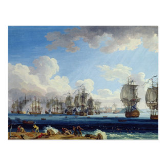 The Battle of Chesma on the 5th July 1770 Postcard