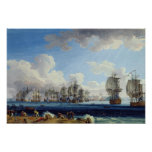 The Battle of Chesma on the 5th July 1770 Print