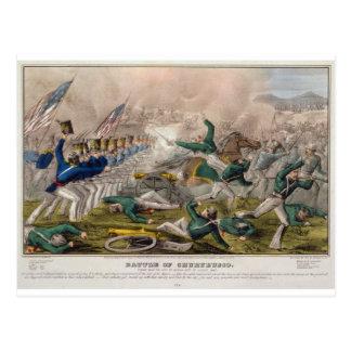 The Battle of Churubusco by J. Cameron Postcard