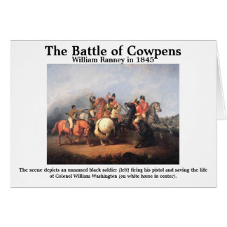 The Battle of Cowpens Card