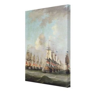 The Battle of Dogger Bank, showing the `Holland' a Canvas Print