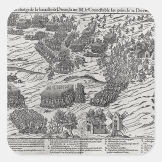 The Battle of Dreux, 19th December 1562 Square Sticker
