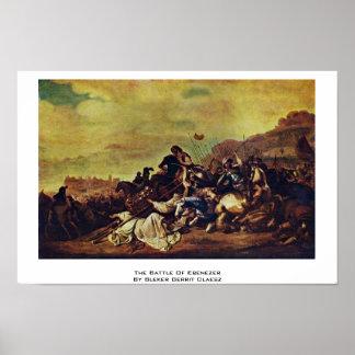 The Battle Of Ebenezer By Bleker Gerrit Claesz. Print