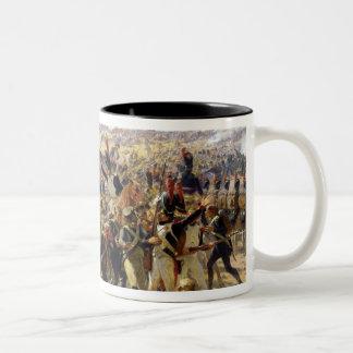 The Battle of Essling, May 1809 Two-Tone Coffee Mug