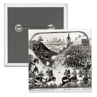 The Battle of Formigny 2 Inch Square Button