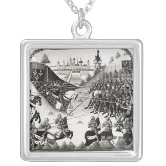 The Battle of Formigny Square Pendant Necklace