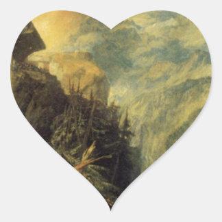 The Battle of Fort Rock, Val d'Aoste, Piedmont by Heart Sticker