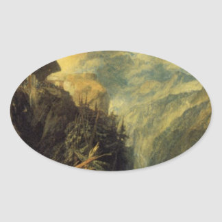 The Battle of Fort Rock, Val d'Aoste, Piedmont by Oval Sticker
