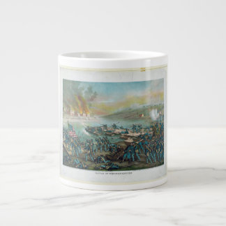 The Battle of Fredericksburg by Kurz and Allison Giant Coffee Mug