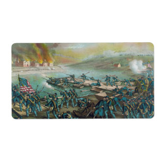 The Battle of Fredericksburg by Kurz and Allison Label