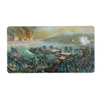 The Battle of Fredericksburg by Kurz and Allison Label
