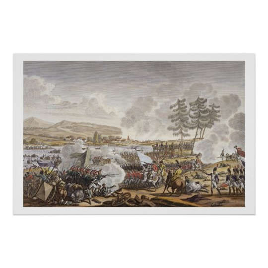 The Battle of Friedland, 14 June 1807, engraved by Poster