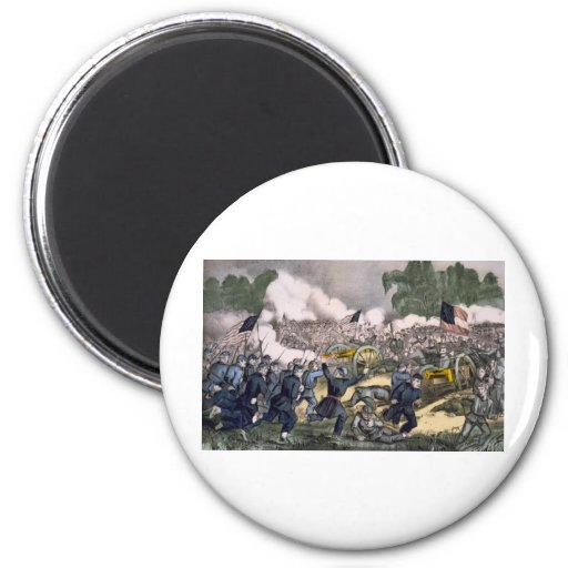 The battle of Gettysburg, Pa. July 3d. 1863 2 Inch Round Magnet