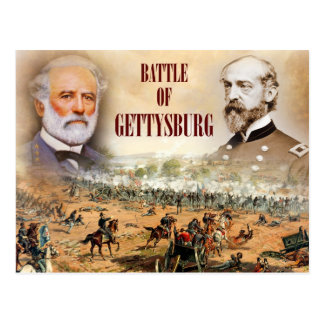 The Battle of Gettysburg with Lee and Meade Postcard