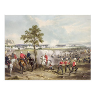 The Battle of Goojerat on 21st February 1849, engr Postcard