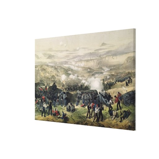 The Battle of Inkerman, 5th November 1854, 1855 Stretched Canvas Print