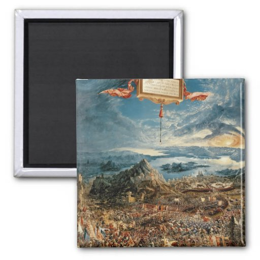 The Battle of Issus 2 Inch Square Magnet
