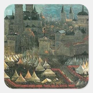 The battle of Issus(fragment) Albrecht Altdorfer Square Sticker