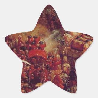 The battle of Issus(fragment) Albrecht Altdorfer Star Sticker