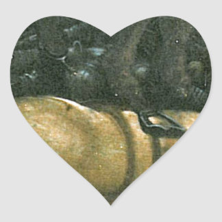 The battle of Issus(fragment) by Albrecht Altdorfe Heart Sticker