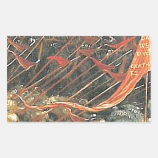 The battle of Issus(fragment) by Albrecht Altdorfe Rectangular Sticker